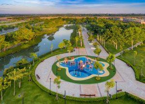 hình ảnh thực tế phân khu swanpark 1a